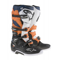 Alpinestars Stövel Tech 7 Svart/Vit/Orange/Blå..