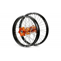 "Hjulsats TALON EVO 21""/19"" KTM125-600 03-12 orange/svart.."