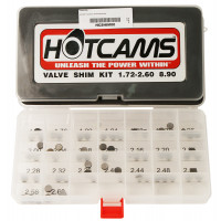 Hot Cams, Shims kit, 1,72mm-2,60mm, totalt 69 shims., 8,90mm..