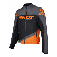 SHOT, JACKA SOFTSHELL LITE, VUXEN, GRÅ NEON ORANGE