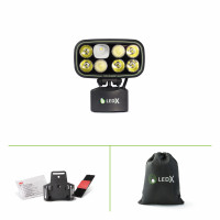 Cobra 6 500 Kit with lamp and lamp holder for helmet in a padded bag..
