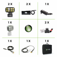 Cobra 6 500 Enduro Kit with two lamps, two batteries, one charger, two..