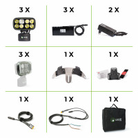 Cobra 6 500 Enduro kit Pro, with 3 lamps, 3 batteries, 2 charger, 1 he..