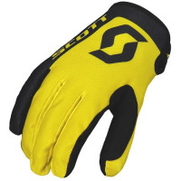 SCOTT HANDSKAR BARN 350 RACE KIDS BLACK/YELLOW..