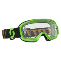 Goggle Buzz MX fluo green clear works..